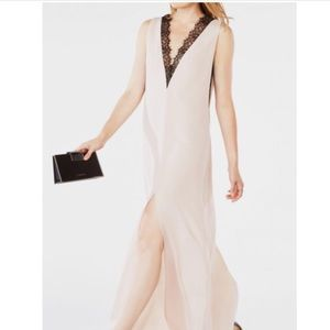 BCBGMaxAzria LLENA Nude Black Lace Dress NWT XS